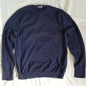 Patagonia Blue Long Sleeve Cotton Sweater Shirt